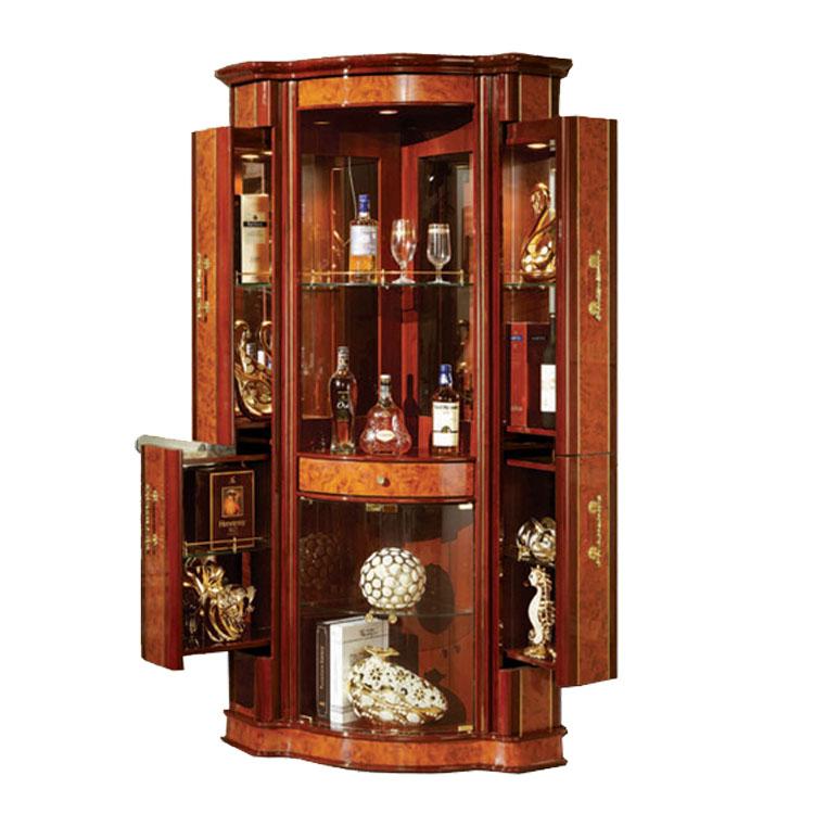 816 a design armoire en bois coin cabinet salon vitrine. Black Bedroom Furniture Sets. Home Design Ideas
