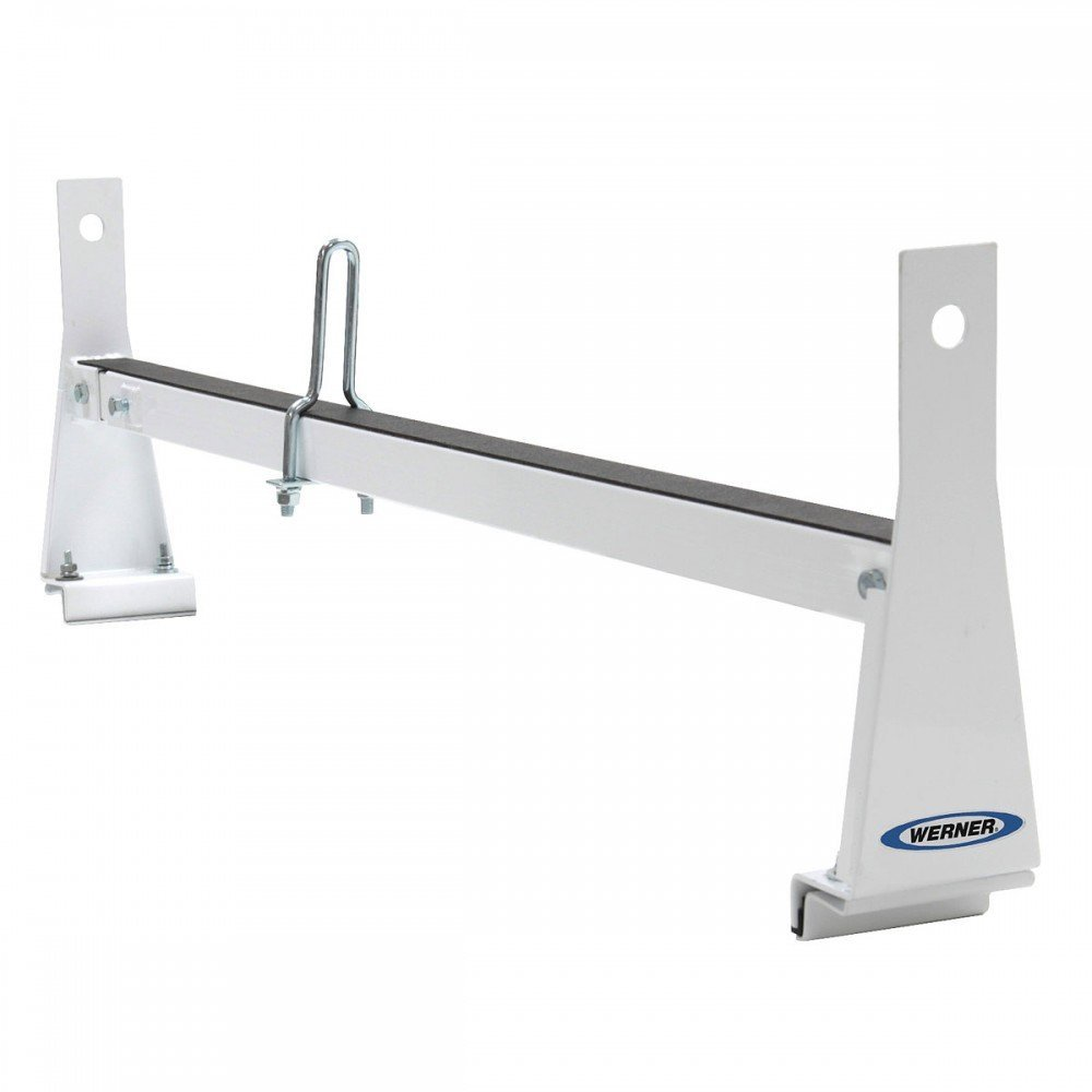 Werner VR404-W Steel Van Rack 3rd Bar for Vans with Flat Roof Tops and Rain Gutters (Ford/GM)