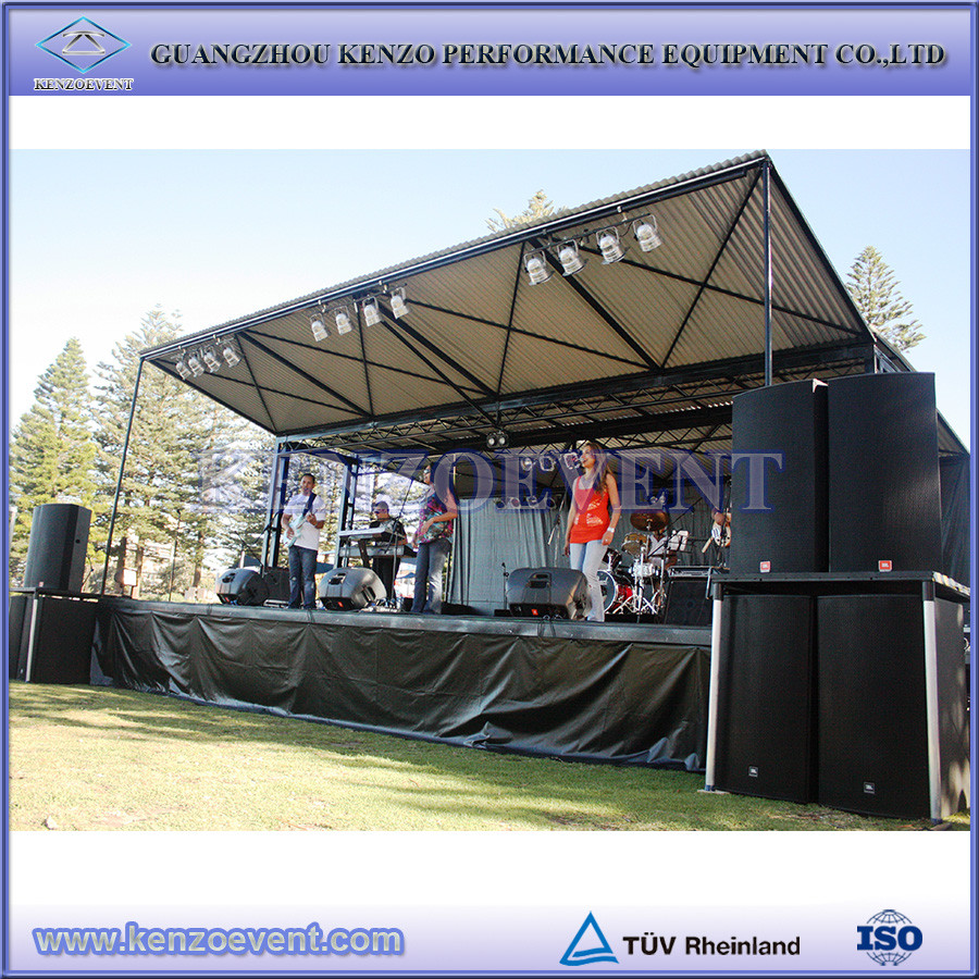 Adjustable Compact Aluminum Outdoor Concert Stage Design