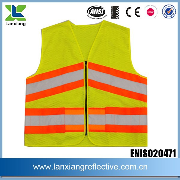 hi vis lattice EN471 standard reflecting traffic safety vest LX629