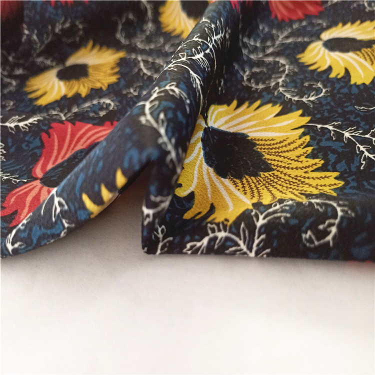Vente chaude opaque feuille motif bulle 100% polyester impression tissu satiné