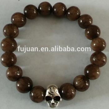 Good Health Mashan Jade Skull Bead Bracelet Whole