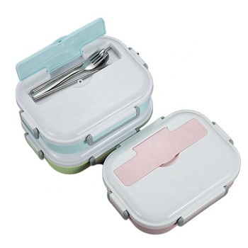 Promotional all in one food grade thermal kids aluminium lunch box