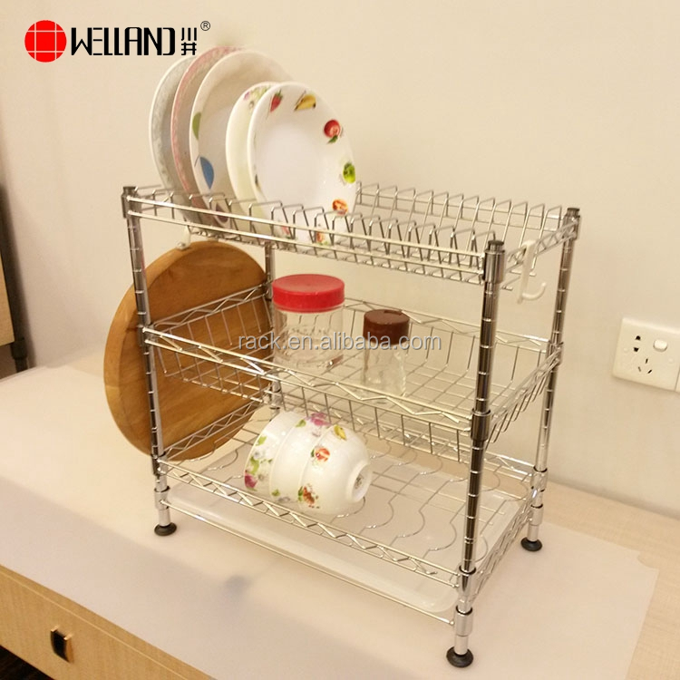 Diy Kitchen Dish Drainer,Metal Wire Dish Shelf Or Plate Shelf Rack For Home  - Buy Dish Drainer,Metal Wire Dish Shelf,Plate Shelf Product on ...