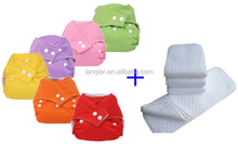 Reusable Baby Cloth Pocket Diapers, waterproof diaper with insert