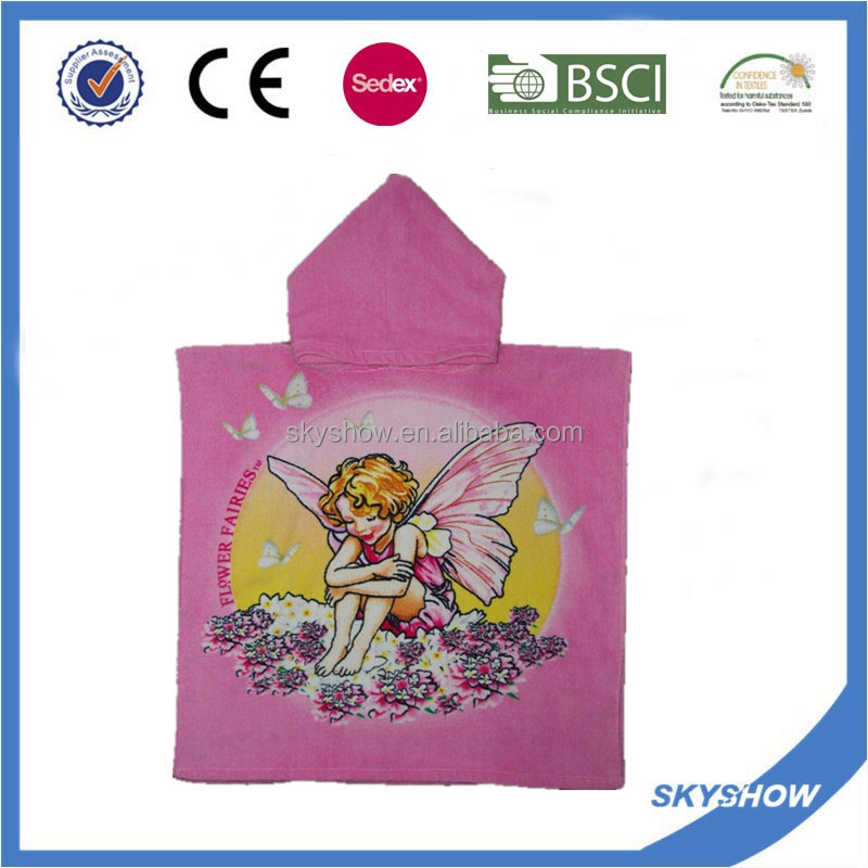 New Style Kids Hooded Poncho Towel