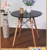 elegance simple design mdf round restaurant dining table