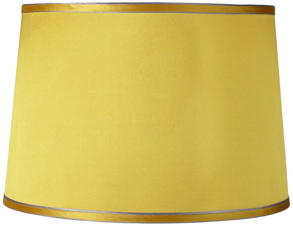 Get Quotations · Sydnee Satin Yellow Drum Lamp Shade 14x16x11 (Spider)