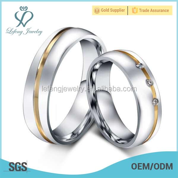 Dubai 18k Silver Rings CoupleImitation Crystal Jewelry Wedding