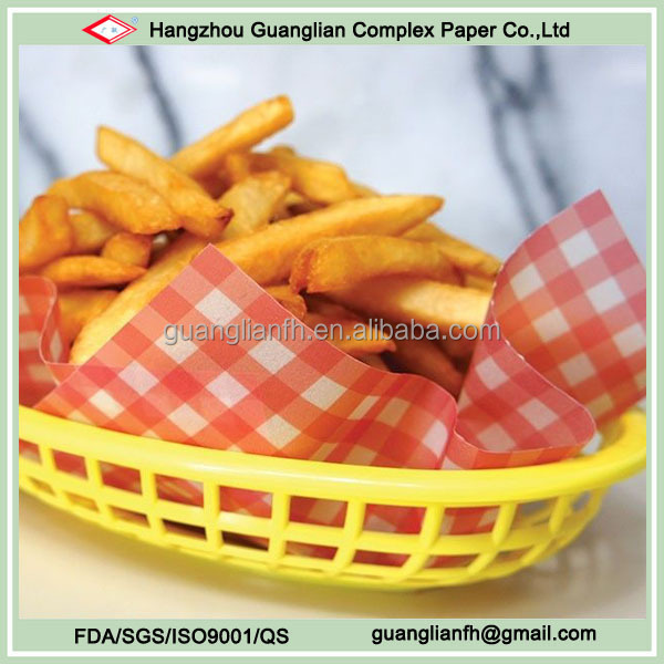 Custom Printed Food Wax Paper for Facking