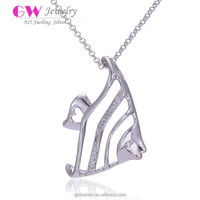 Newest Products Necklace Fish Shaped Jewerly Hot Sale Silver Necklace Jewelry