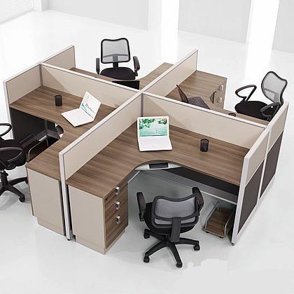 Dise o simple oficina estaciones de trabajo de escritorio for Muebles de oficina para 4 personas