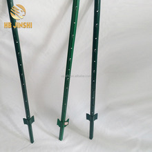 Factory direct Ameircan type Powder coated green painting white paint on the top Metal Studded t post