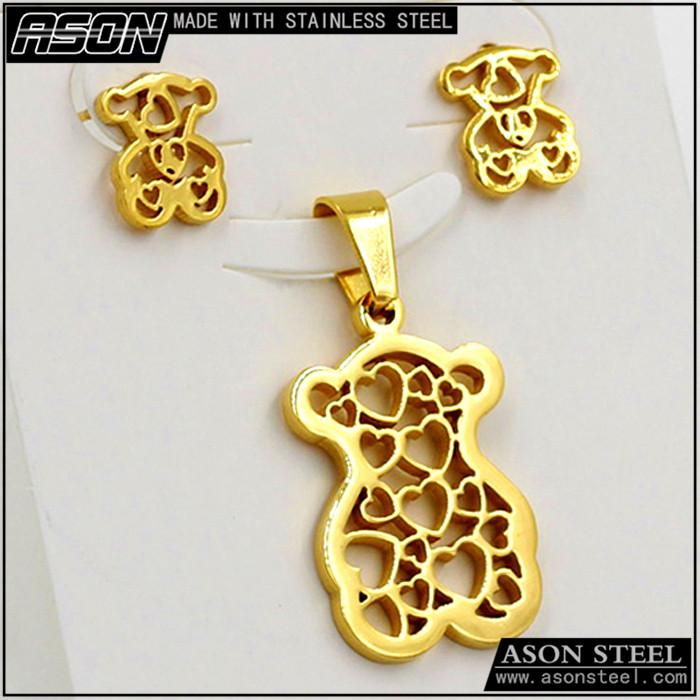 0e4b19c545a9 Oso de oro de joyería de moda al por mayor de china de acero inoxidable 316l