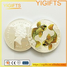2012 Niue $2 Two Dollar Coins Japanese Chinese Feng Shui Colorized Koi Carp Fish Silver Coin
