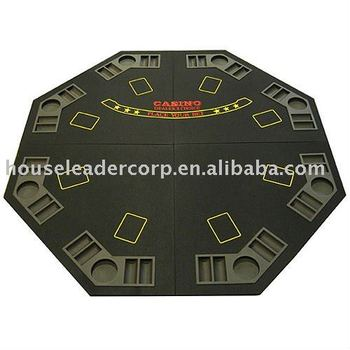 48u0027u0027 4 Fold Octagon Felt Poker Table Top