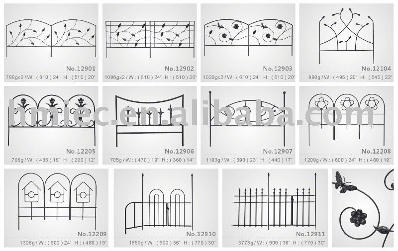 Hand Forged Wrought Iron Style Garden Fence   Buy Garden Fence,Ornamental  Fence,Metal Fence Product On Alibaba.com