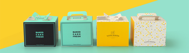 कस्टम डिजाइन गर्म बिक्री 10 इंच रंगीन टेम्पलेट केक बॉक्स