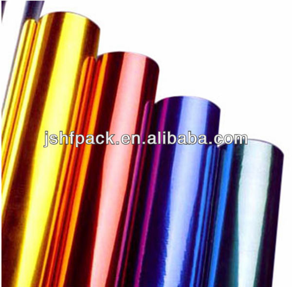 Hot stamping foil paper for garments high glossy washing resist