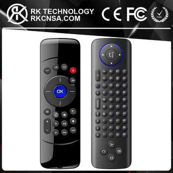 RK C2 Wireless Air Mouse Keyboard Remote Control for Windows 10 Samsung LG  Smart TV, View air mouse remote control for samsung smart tv, OEM&ODM