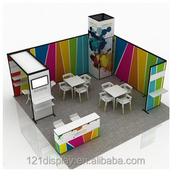 Modular Exhibition Stands : Economical diy modular exhibition booth display view