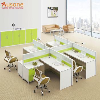 Espacio Abierto Muebles De Oficina Tipo Cruz Mesa Oficina Partición ...