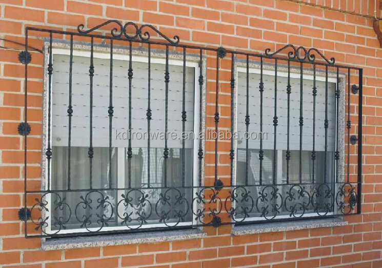 Manufacturer wrought iron sample design window grills for Iron window design house