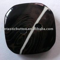 2 holes special square polyester button
