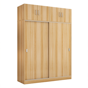 Fancy Looking Classic Wood Clothes Cabinet with Sliding Doors