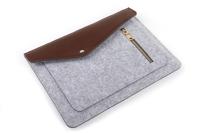 Fashionable design top brand laptop PU felt protective sleeve for microsoft surface book pro 13.5-inch and XPS 13