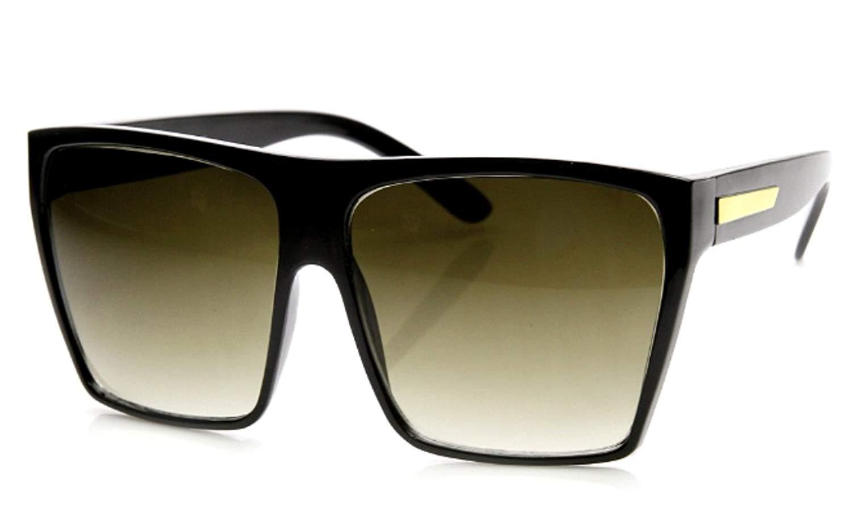 WebDeals - Square Flat Top Sunglasses Oversize Thick Retro Designer Frame…