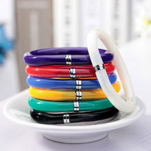Flexible cute soft plastic bangle bracelet ballpoint e pens school office supplies birthday gift pen drive 3.0