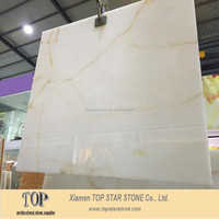 Iran customize panel white color onyx marble for backlit dinning table
