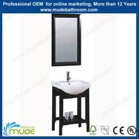 America style solid oak wood waterproof varnish bathroom cabinet