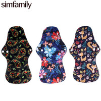 simfamily Bamboo Charcoal Heavy Flow Reusable Waterproof Health Menstrual Cloth Sanitary Pads Sets Soft Pads