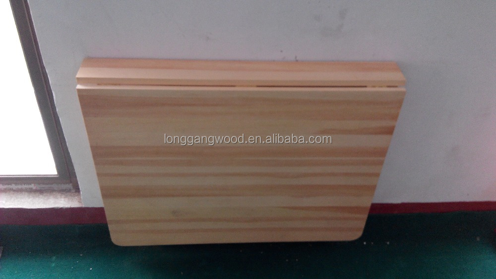 Fold Down Wall Table, Fold Down Round Table, Wood Wall Folding Table