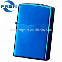 Factory wholesales metal gas windproof cigarette gift lighters,butane lighter refill valve