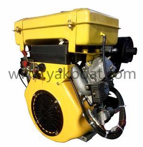 China 25hp marine air cooled 2 cylinder diesel engine