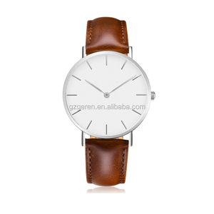 oem watch low moq 36mm stainless steel minimalist watch quality business watch genuine leather brand logo ladies timepieces