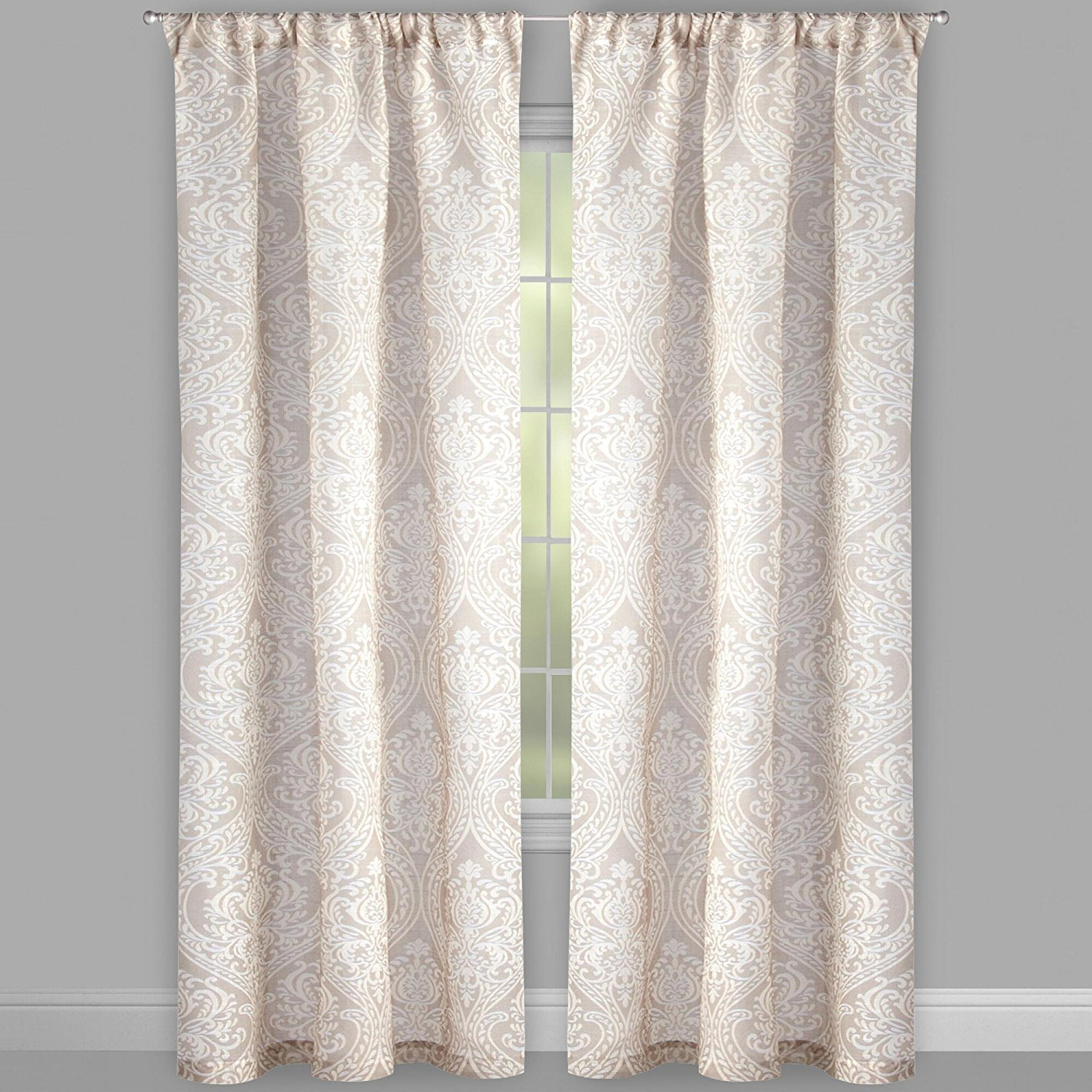 84 Bombay Clay Damask Window Curtains