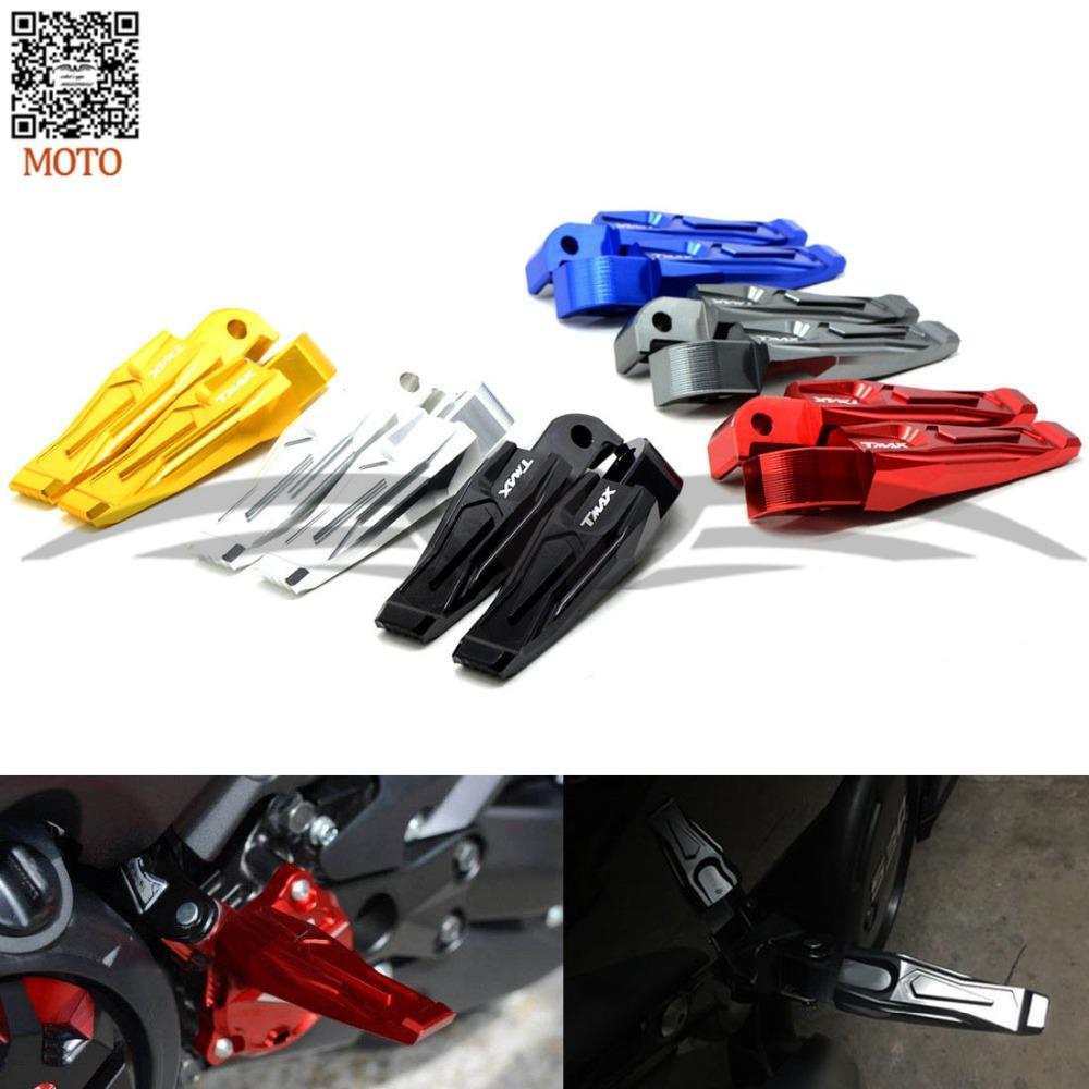 6 цветов мотоциклов педали чпу заднего пассажира Peg подножки для YAMAHA тмах 500 T-MAX530 T максимальный 500 T-MAX 530 тмах 500 530