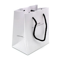 GO102 customised luxury carry shopping paper bag with logo