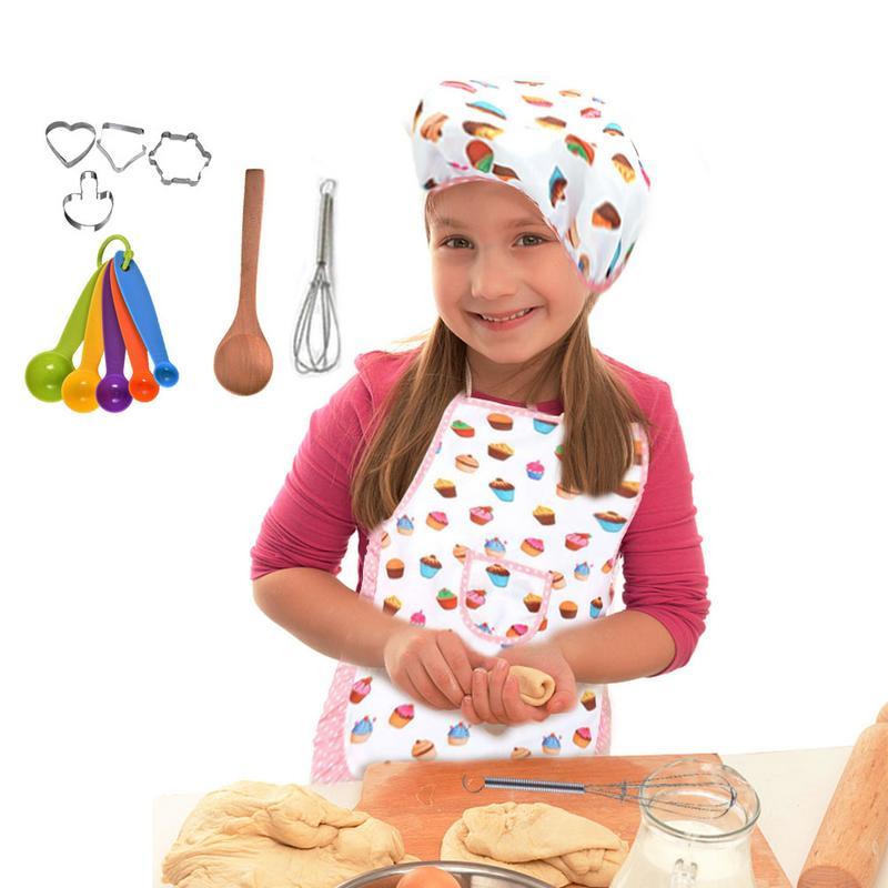 Набор детских игрушек для приготовления пищи, ролевых игр, кухонные принадлежности, инструменты для выпечки, фартук для торта, подарок на де...(Китай)