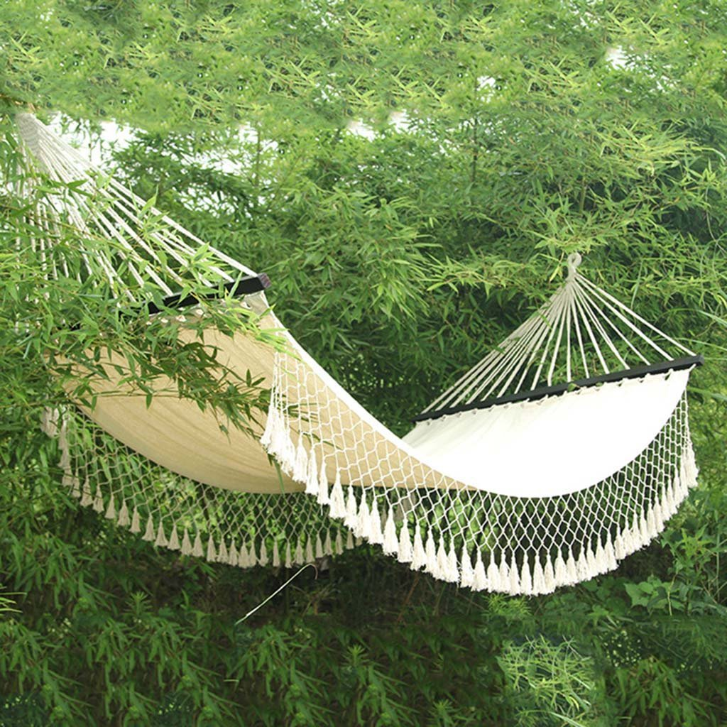 Ren Chang Jia Shi Pin Firm Canvas tassel hammock camping swing