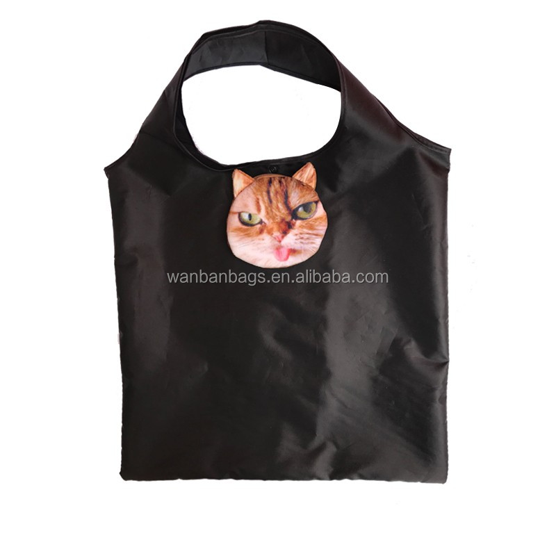 Cat foldable shopping bag animal folding bag