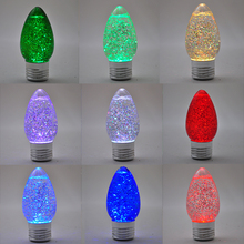 Christmas decor led lamp Persistent sequins water globe light bulb
