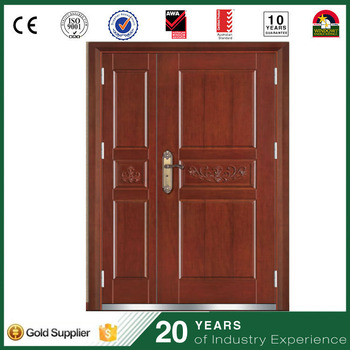 Low Price Security Church Door Iron Main Gate Design Steel Wood Armored Door