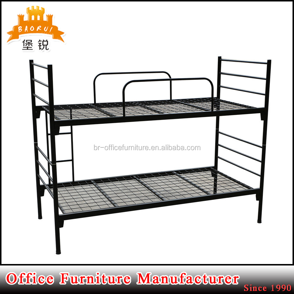 black steel adults designs round tube frame single bunk metal bed