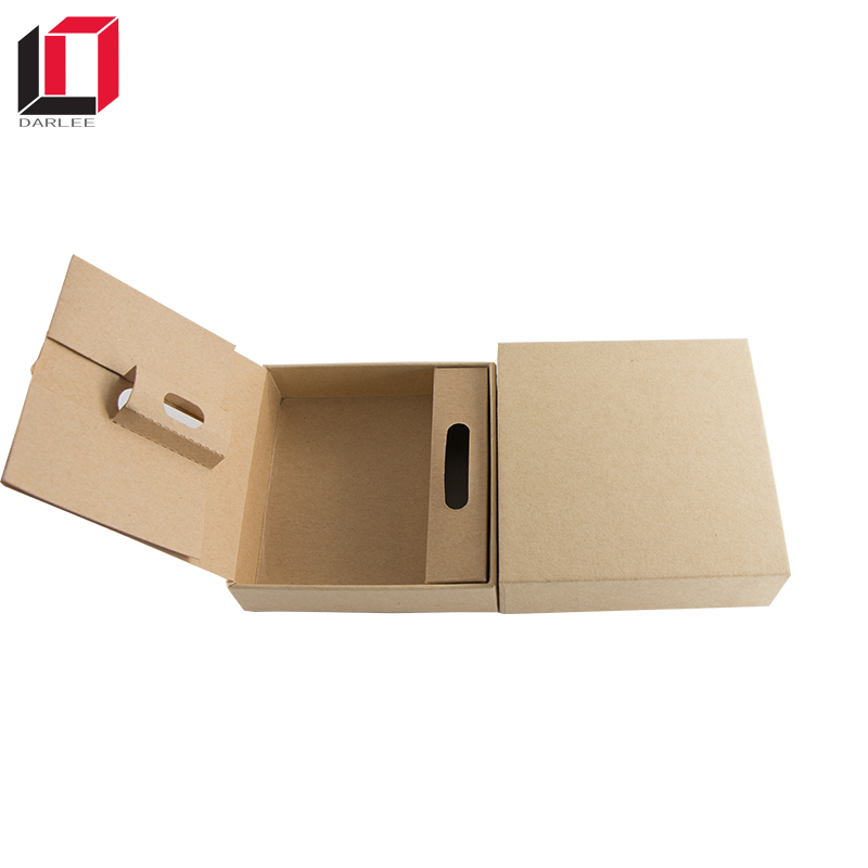 Custom brown kraft paper phone bracelet packaging box with sponge insert