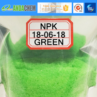 NPK 18-06-18 crystal powder 100% water soluble compoud quick release foliar irrigation fertilizer